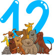 number twelve and 12 dogs