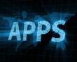 Abstract Background of APPS with Glowing Rays