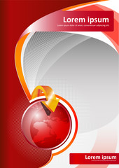 Vector red brochure background