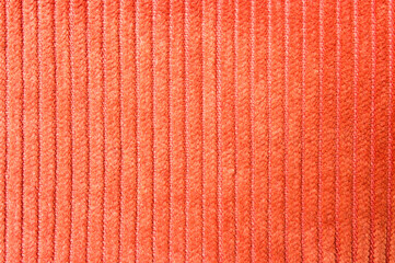 Orange corduroy texture
