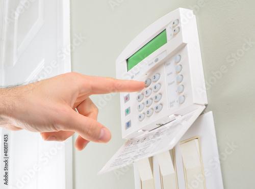 Leinwandbild Motiv House alarm