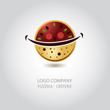 logo pizzeria, log crêperie