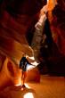 Woman exploring at the Grand Canyon
