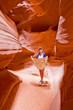 Tourist exploring the Grand Canyon