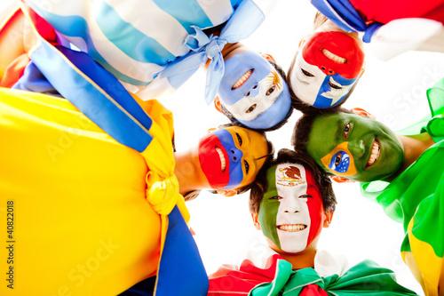 Group of Latin American people