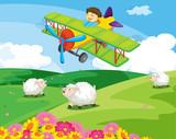 Fototapety flying boy
