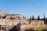 Ancient ruins near Temple mount Jerusalem, Israel