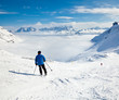 Skier on a piste