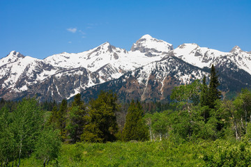 Mountains in Grand Teton National Park, Wyoming