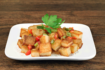 Healthy home fried potatoes