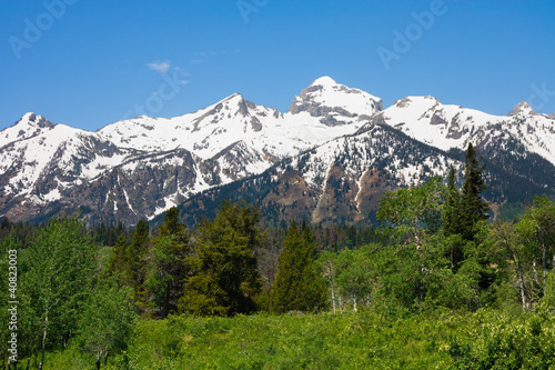 Mountains in Grand Teton National Park, Wyoming
