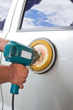 power buffer machine at service station - a series of CAR CARE