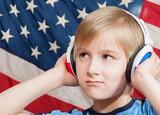 Fototapety Learning language - American English (boy)