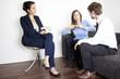 Frau verlangt Scheidung beim Psychologen