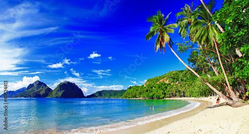 panoramic beautiful beach scenery - El-nido,palawan