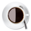 Cup of coffee isolated clipping path.