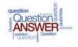 Question answer tag cloud illustration