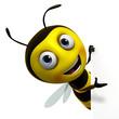 Obrazy na płótnie, fototapety, zdjęcia, fotoobrazy drukowane : cute bee