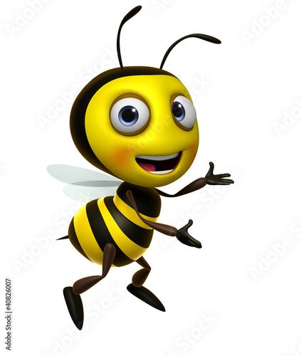 Fotobehang Sweet Monsters cartoon bee
