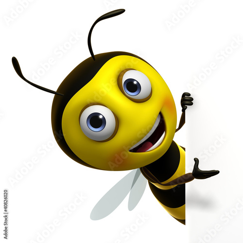 Fotobehang Sweet Monsters cute bee