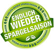 """Button Banner """"Endlich wieder Spargelsaison"""" grün"""