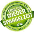 """Button Banner """"Endlich wieder Spargelzeit"""" grün"""
