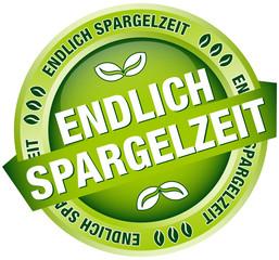 """Button Banner """"Endlich Spargelzeit"""" grün"""