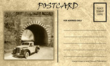 Vintage Empty Blank Motor Car Postcard Template