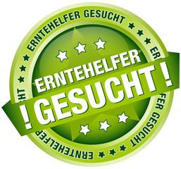 """Button Banner """"Erntehelfer gesucht"""" grün"""