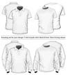 Amazing vector set. Men's polo-shirt and t-shirt
