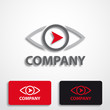 Stylized logo with eye and arrow # Vector
