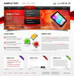 Editable Website Template 4. Color variant 2
