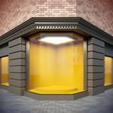 Fototapety Corner  showcase in classical style.