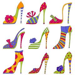 Fashion shoes. Decorative elements