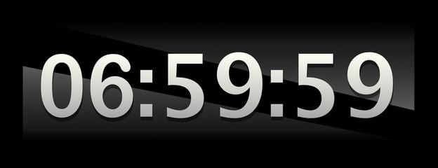 quadrante di orologio digitale prima delle sette