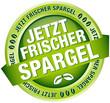 """Button Banner """"Jetzt frischer Spargel"""" grün"""