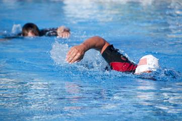 Zwei Schwimmer