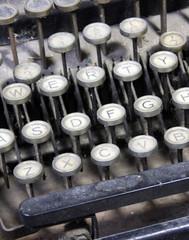 betagte Schreibmaschine