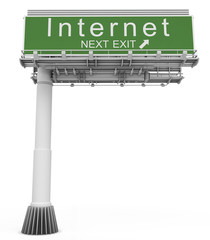 Freeway EXIT Sign Internet