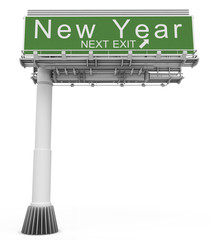 Freeway EXIT Sign New Year