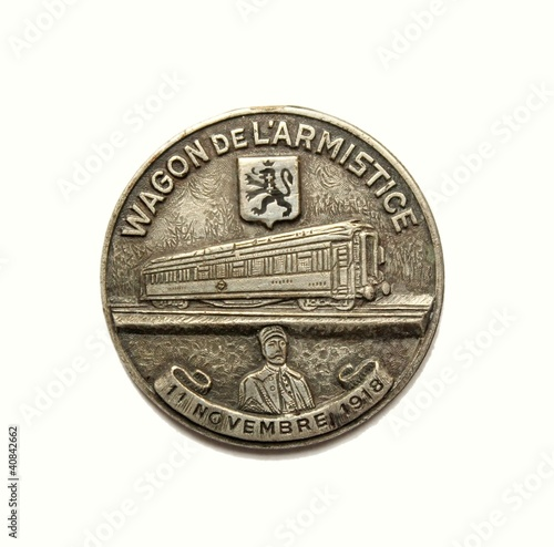 Médaille wagon de l'armistice 14 18