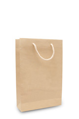 recycled paper bag isolated.