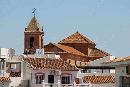 Church and townhouses, Torrox, Spain © Arena Photo UK
