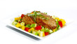 Fried Pork and Salad