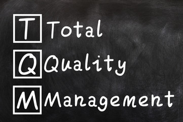 Handwriting of Total Quality Management (TQM)