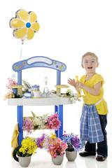 Delighted Little Florist