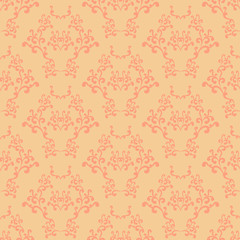 Yellow and pink seamless wallpaper background pattern design