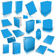 Pale blue 3d blank cover collection