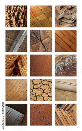 Texture, matière, fond, marron, brun, terre, uni, couleur