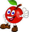 Red apple cartoon character